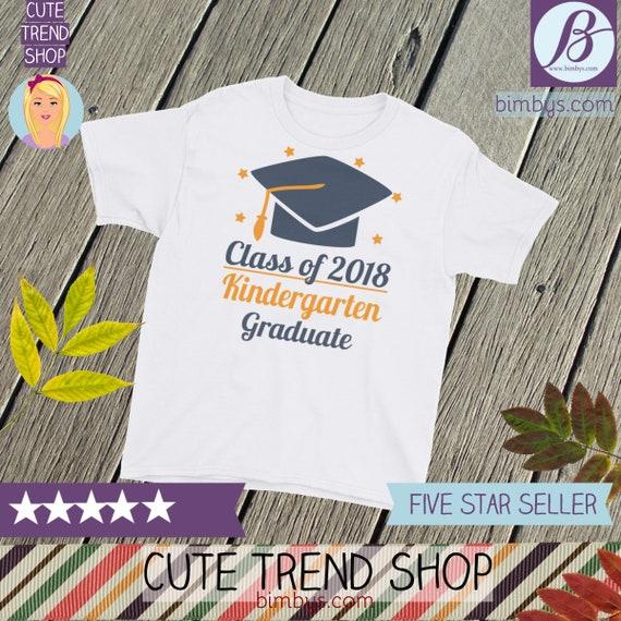 ON SALE 2018 graduate - Class of 2018 Youth Short Sleeve T-Shirt - 2018 graduates - Kindergarten Graduate - 2018 grad - 2018 graduation tee