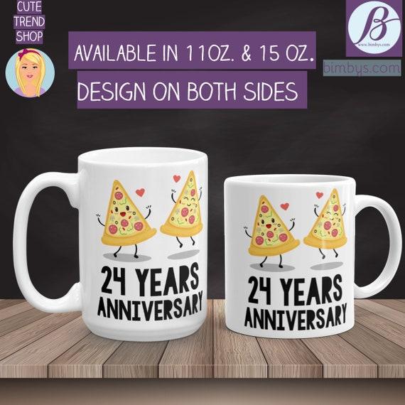 Anniversary Gift Idea - 24th Anniversary Mugs - 24th Anniversary Gifts - wedding anniversary - 24th anniversary - anniversary gift - anniver