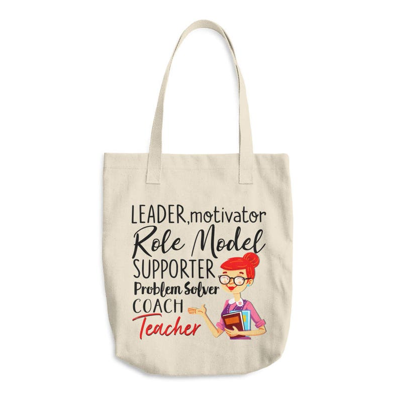 Gift Idea Leader Canvas Tote Bag Teacher Motivator It Takes a Big Heart To Shape Little Minds Teacher Tote Bag Gift for Teacher