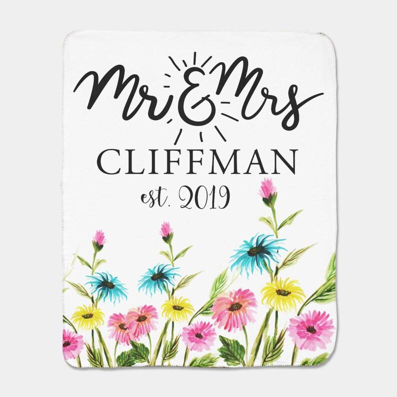 Mr and Mrs Custom Blanket,Personalized Mr Blanket Custom Blanket Minky Custom Wedding Gift,Engagement Gift Sherpa Blanket /& Mrs