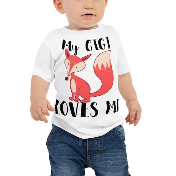 T-Shirt for Baby Toddler Kid Newborn Babies Shower Coming Home Gift Idea My GIGI Loves Me, Grammy - Nana - Gigi - MiMi - Nonnie - Grandma