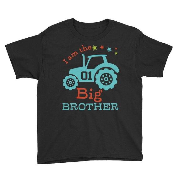 Big Brother T-Shirt Tractor Print, Big Brother Shirt - Sibling Shirt - Pregnancy Announcement, Big Brother Shirt - Sibling Shirt - Pregnancy
