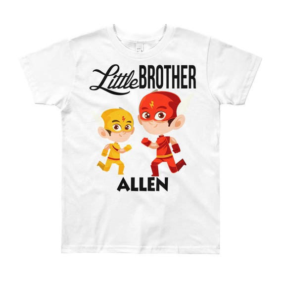 SALE Custom Superhero Little Brother T-Shirt | Personalized Name Little Brother Shirt | Matching Sibling T-Shirts | Little Brother Outfit