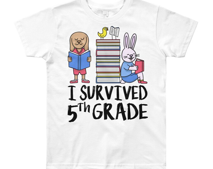 5th grade shirt, last day of school, first day of school, back to school, 1st day of school, end of year, first and last day, last day of