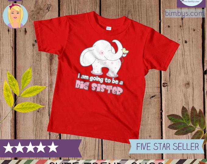 big sister shirt, Big Sister kids t-shirt, I am Going to be a Big Sister Kids T-Shirt, Big Sister Announcement Shirt, Pregnancy Announcement