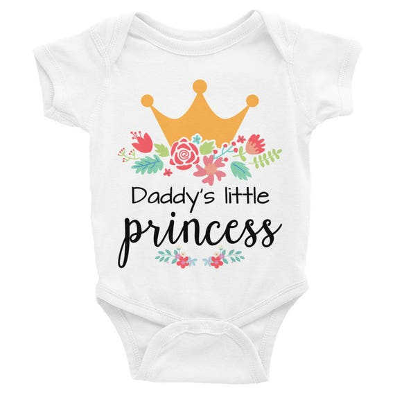Floral Newborn , Floral Romper ,Baby Girl Clothes, Floral Baby, Princess Baby Bodysuit, Daddy's Little Princess Bodysuit Baby girl rompers