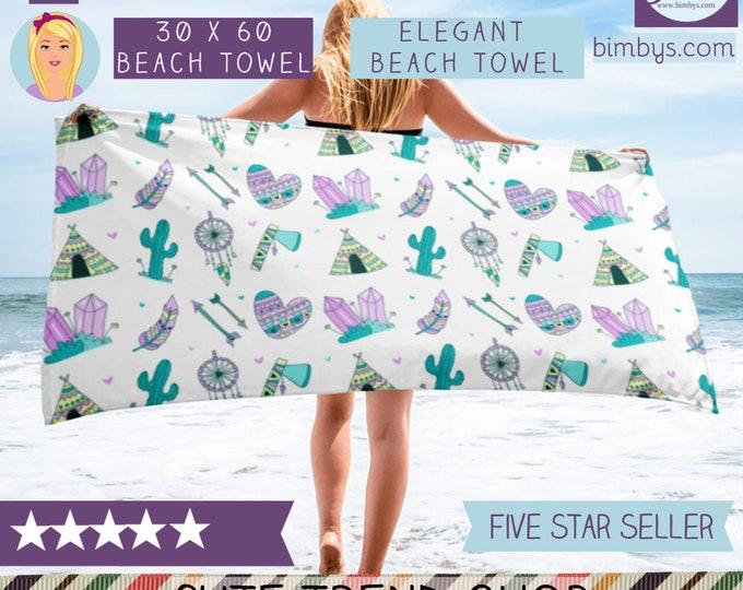 Elgant Boho Beach Towel - beach towel - beach towels - beach accessories - beach blanket - beach house decor - beach bachelorette