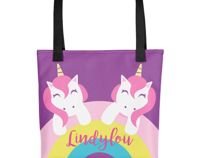 Custom Personalized Tote bag | Unicorn Tote for Kids | kids tote bag | beach bag | Kid's tote bag | Girls tote bag  | kids gift ideas | Tote