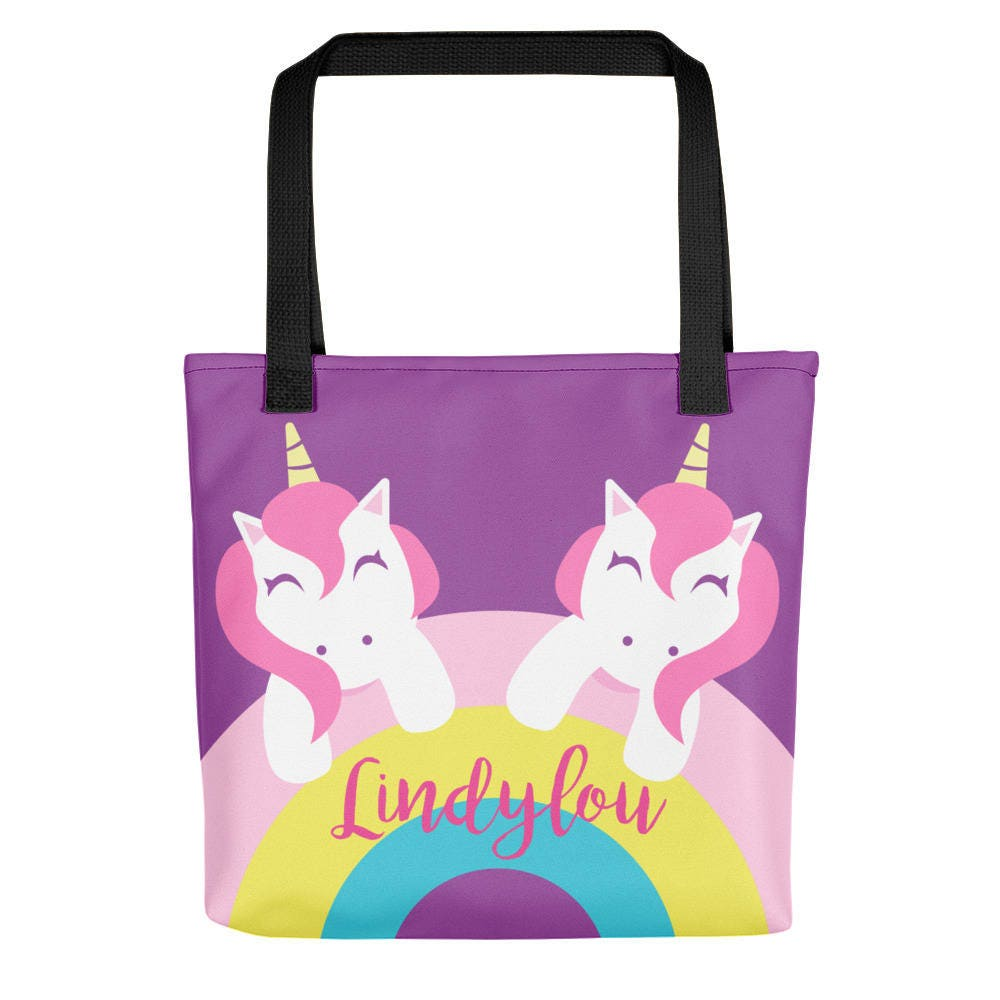 Custom Personalized Tote Bag Unicorn Tote For Kids Kids