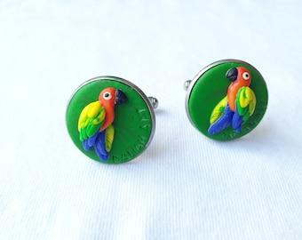 Vintage Macaw Cuff Links