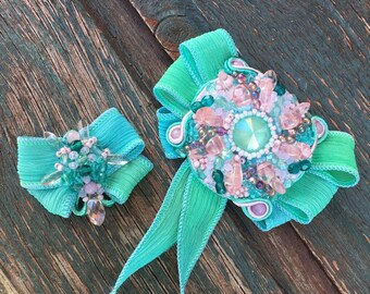 """Brooch """"Mother and daughter"""""""