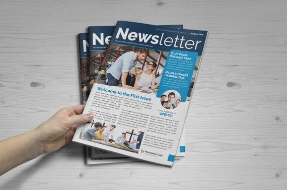 Corporate Newsletter Design Business Newsletter 12 Page Newsletter Indesign Newsletter Template