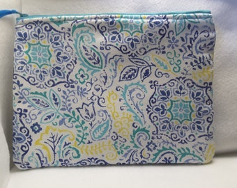 Mandala inspired purse, stylish purse, cosmetic bag,toiletry bag