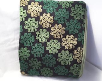 Irish clutch, Irish purse, irish clover bag ,irish clover handbag