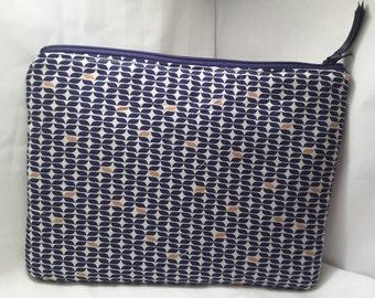 blue patterned bag , Blue purse, blue clutch