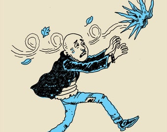 Punk Chasing Wig shirt by Noah Van Sciver
