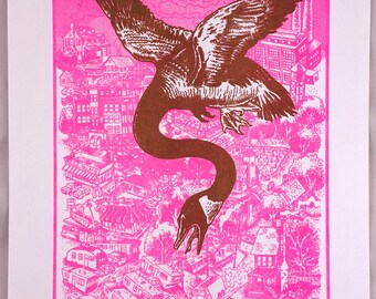 "Risograph print ""Goose"" by Jamie Vayda"