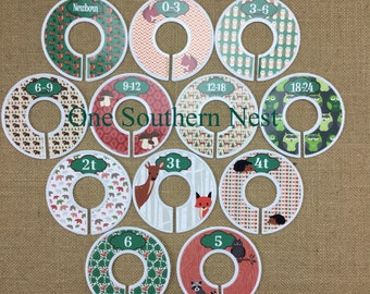 Woodland Creatures, Closet Dividers, Baby Shower Gift, Newborn Baby Gift, Infant, Baby, Toddler, Child, size dividers.
