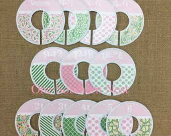 Closet Dividers for baby girl, Baby Shower Gift, Newborn Baby Gift, Infant, Baby, Toddler, size dividers. Happy to customize the labels.