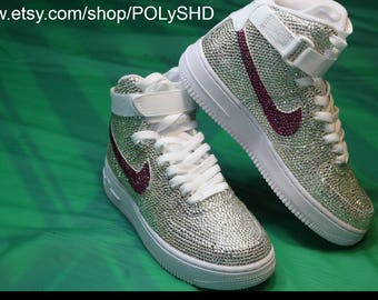 3aeff517daa2 The Ultimate Bling Nike AF1 nike af1 Air Force 1 bling crystal rhinestone Swarovski  shoes sneakers wedding school bridal performance swag