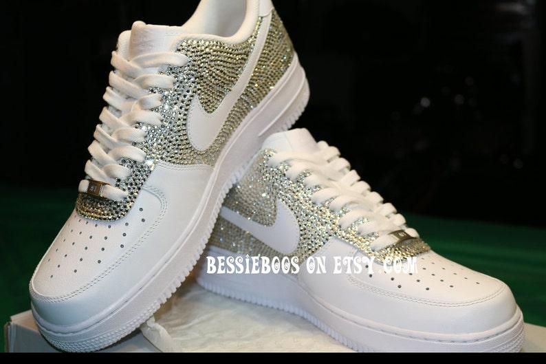87c3c4711b6dcb Men Nike AF1 Half Swarovski embellished Nike AF1