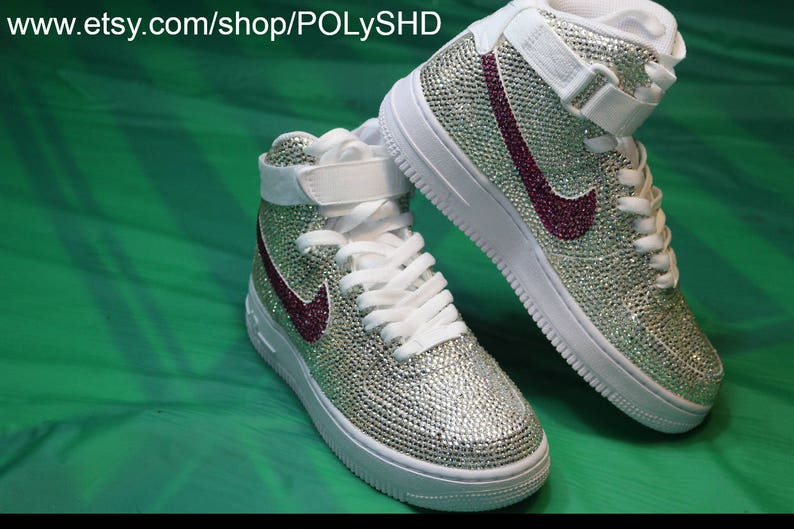 The Ultimate Bling Nike AF1 nike af1 Air Force 1 bling crystal  fb4b0e38a