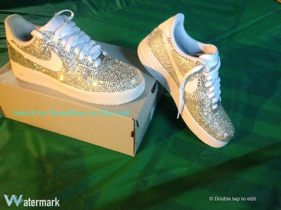 Mens Authentic Nike AF1 embellished with Swarovski and house  6dee36784