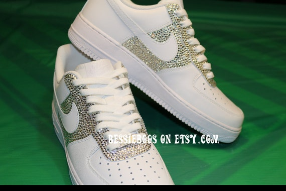 Men Nike AF1 embellished with Swarovski gems  8d0e447ee