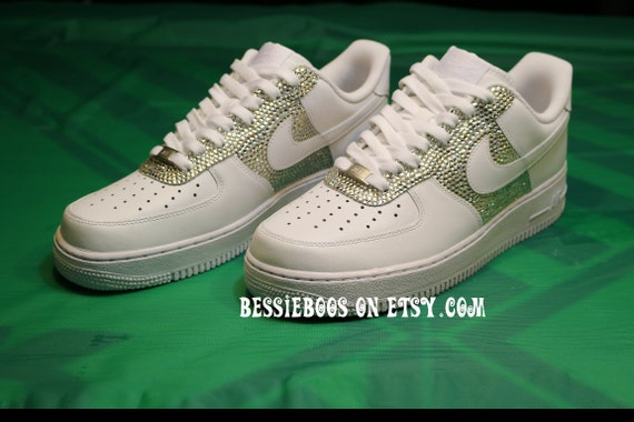 Women Nike AF1 embellished with Swarovski gems  8a06d3267