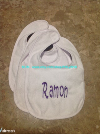 Embroidered Bib, Embroidered Name Bib, Baby Shower Gift, Baby Girl Bib, Baby Boy Bib, Custom Name Bib, Custom,Personalized Bib, Custom Bib,