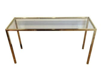 Brass console table Etsy