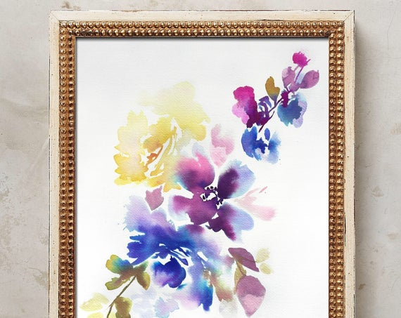 Original watercolor, original painting, watercolor, peony art, peony watercolor, abstract floral painting, floral pint, floral art, wall art