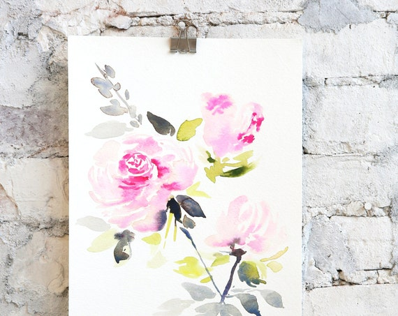 Watercolor peony, peony painting, original, peony art, peony watercolor, abstract floral painting, floral pint, floral art, wall art