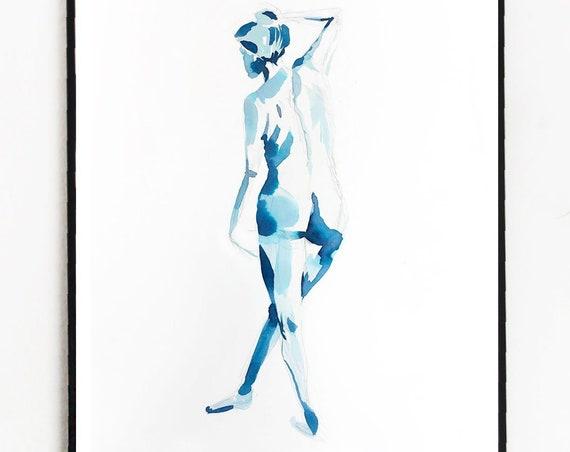 Female figures, female figure painting, watercolor figure, watercolor, woman, female watercolor, abstract floral painting, original artwork