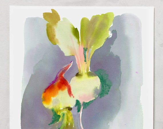 Vegetable painting, vegetable watercolors, watercolor vegetables, watercolor beets, kitchen paintings, prints for the kitchen