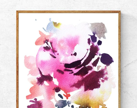 Original foral, spring painting, pink flowers, floral art, original, floral painting, watercolor florals, abstract floral painting, peonies