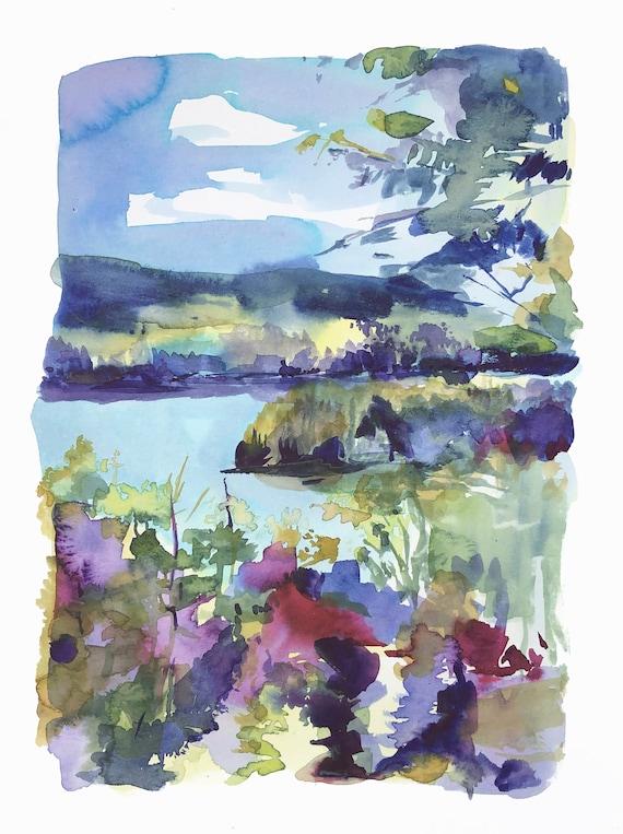 Newfound lake watercolor, lake george, Chautauqua Lake, watercolor Minnesota, lake zoar watercolor, deep creek lake, caddo lake