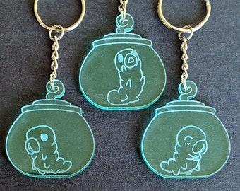 Grub in a Jar Keychain, Charm, or Necklace || Hollow Knight || laser-cut acrylic