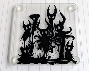 Broken Vessels Coaster || Hollow Knight || laser-cut acrylic