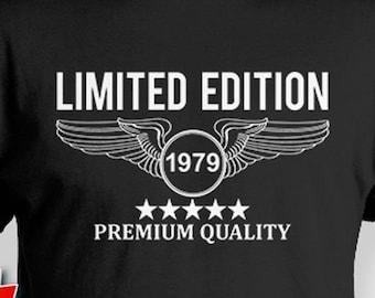 40th Birthday Gift Ideas T Shirt Bday Custom TShirt Pilot Gifts B Day Premium Quality 1979 Mens Tee