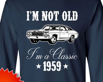 60th Birthday T Shirt Grandpa Gift For Car Lovers Custom Year Personalized TShirt Bday Present Men Born In 1959