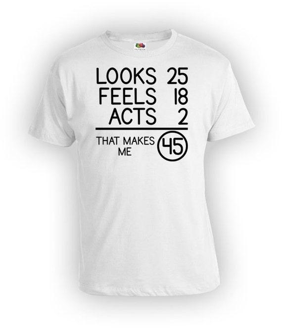 Funny Birthday Shirt 45th Gift Ideas Bday T