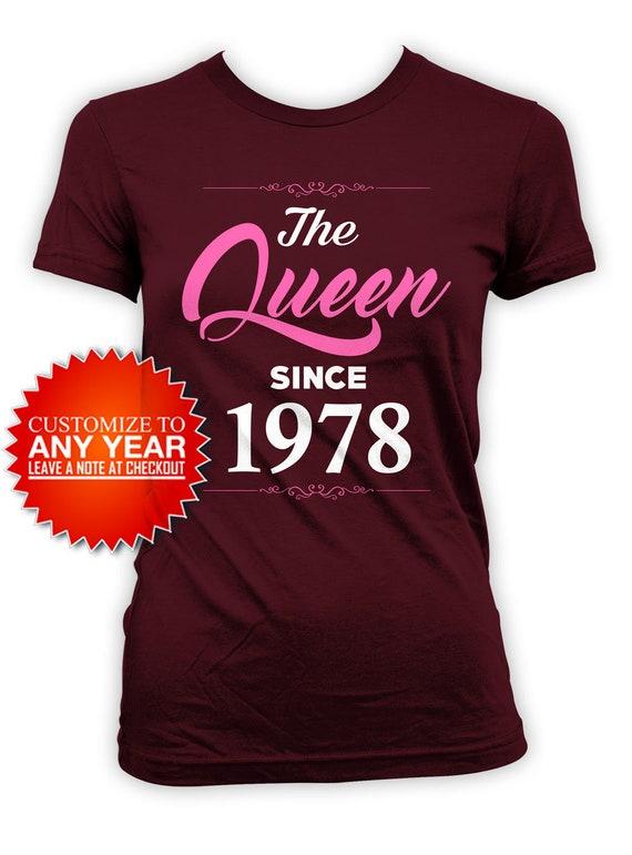 40th Birthday T Shirt Custom Gift Ideas For Women Mom