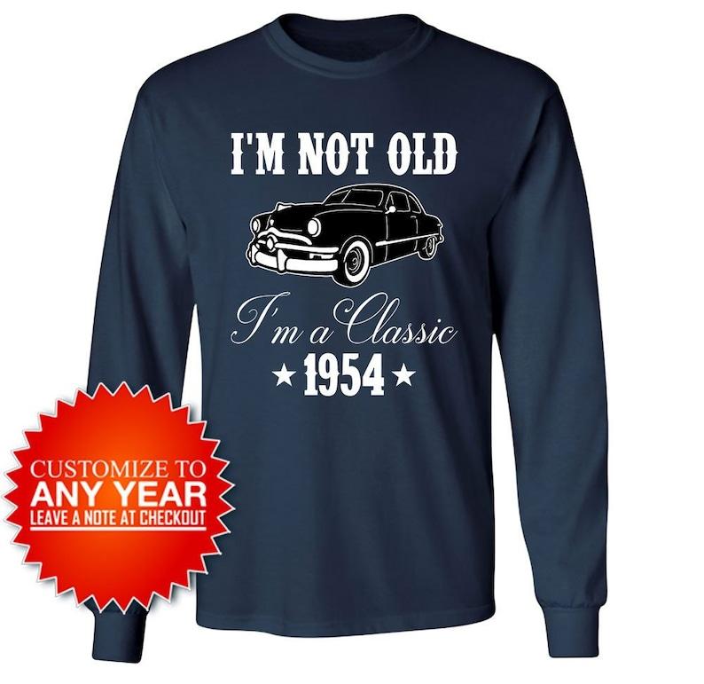 65th Birthday Gift Ideas For Men Long Sleeve T Shirt Car Lover