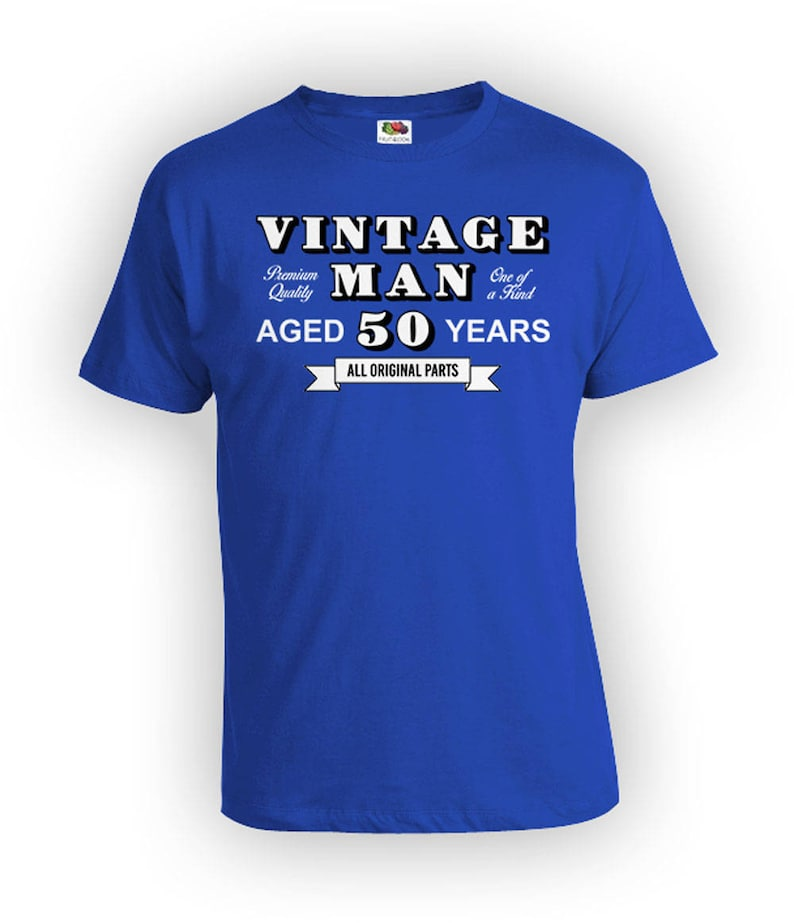 a390afce5 50th Birthday T Shirt Custom Birthday Gifts For Men | Etsy