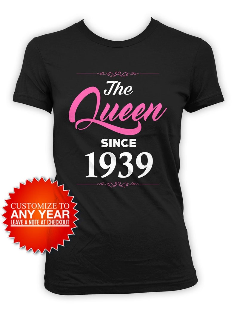 80th Birthday Gift Idea For Women Bday Shirt Custom T