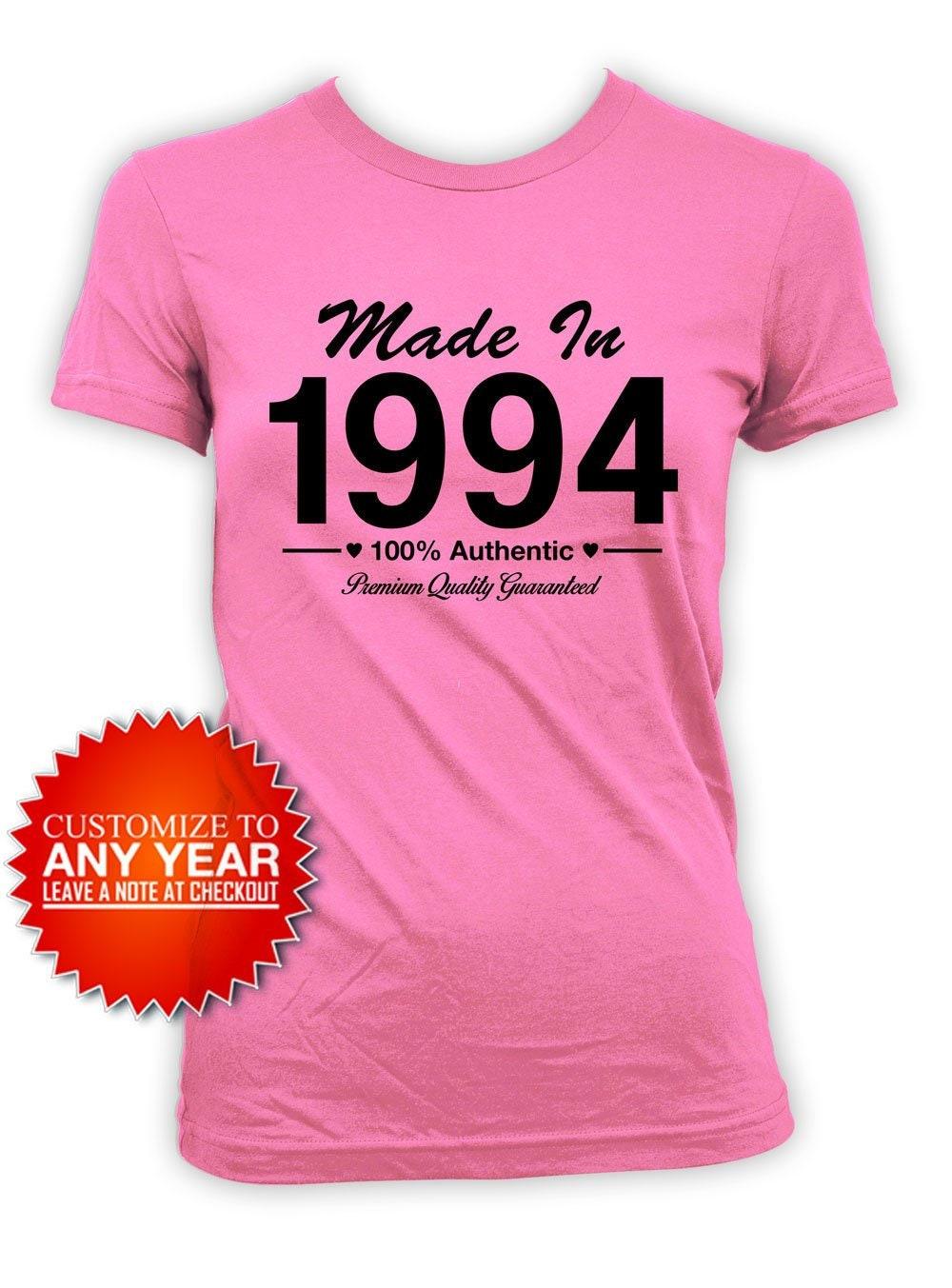 25e anniversaire Shirt Bday anniversaire tenue Bday Shirt cadeaux pour les femmes personnalisé T Shirt Bday présent pour son né en 1994 en anniversaire Ladies Tee 0b3022