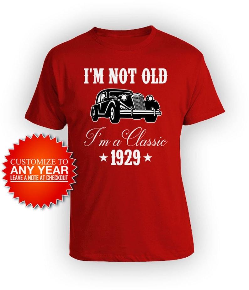 90th Birthday Gift Ideas For Men Bday T Shirt Custom Year