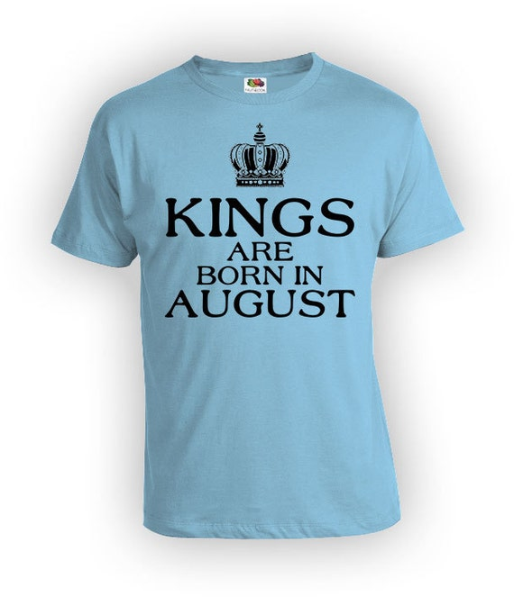 Personalized Birthday T Shirt August Month
