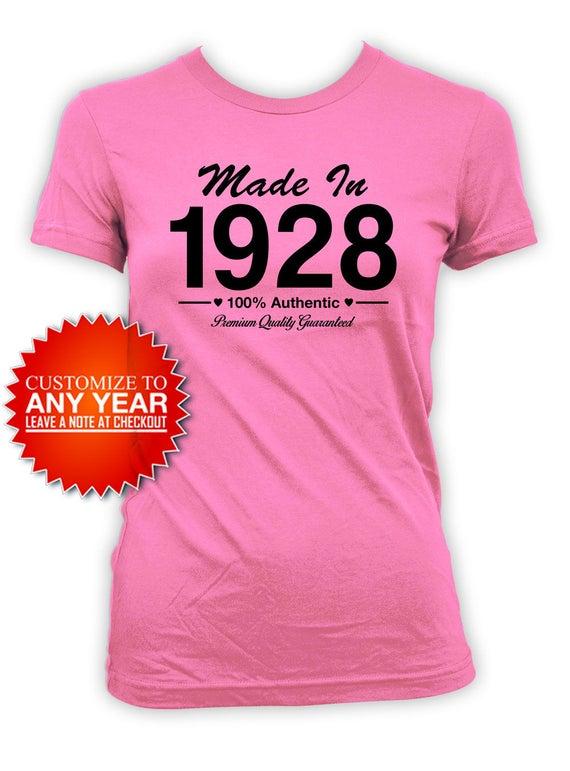 90th Birthday T Shirt Gifts For Women Custom
